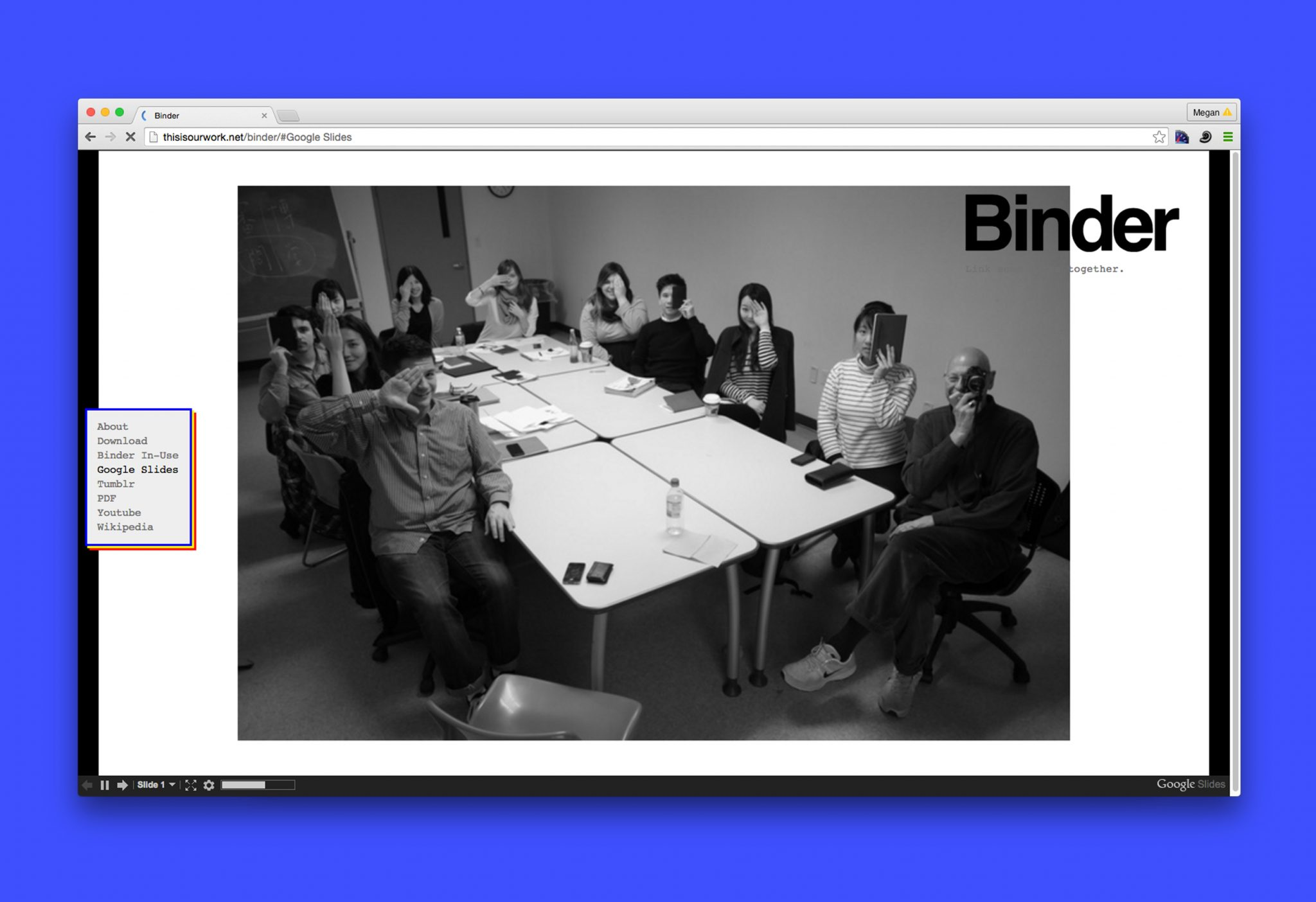 Binder Web Template : This is our work